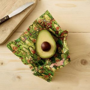 Jelly Armchair Avocado Park Print Vegan Wax Wraps – 2 pack