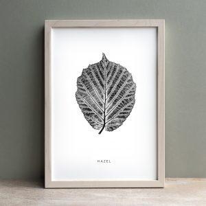 Hazel Leaf Print – Black