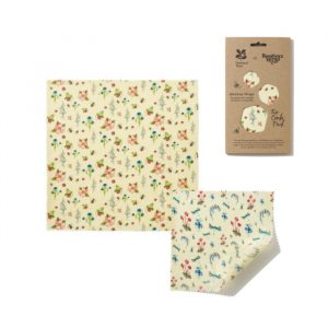 National Trust Summer Blooms Print Beeswax Wraps – 2 combo pack