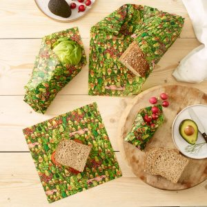 Jelly Armchair Avocado Park Print Vegan Wax Wraps – 3 combo pack