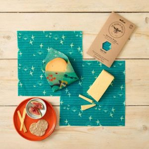 Seaside Print Beeswax Wraps – 3 pack