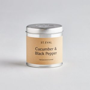 Cucumber & Black Pepper Scented Tin Candle